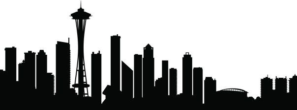 image result for seattle skyline silhouette clip art with windows rh pinterest com Seattle Skyline Outline Seattle Skyline Outline
