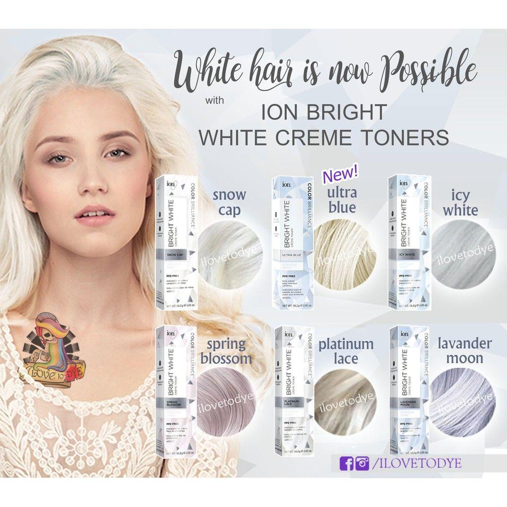 Image Result For Ion Bright White Toner White Toner Silver Hair