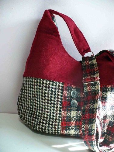red wool bag