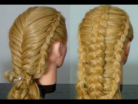 two braided hairstyles long