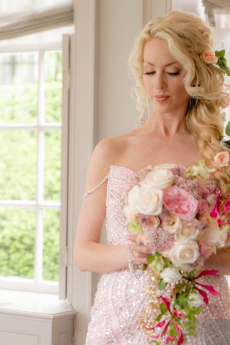 Pink Wedding Theme Pink Floral Bouquet Modern Luxury Wedding