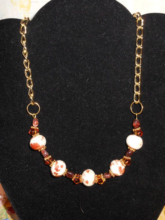 Topaz Tears Necklace by OurBeadedCharms on Etsy, $14.50