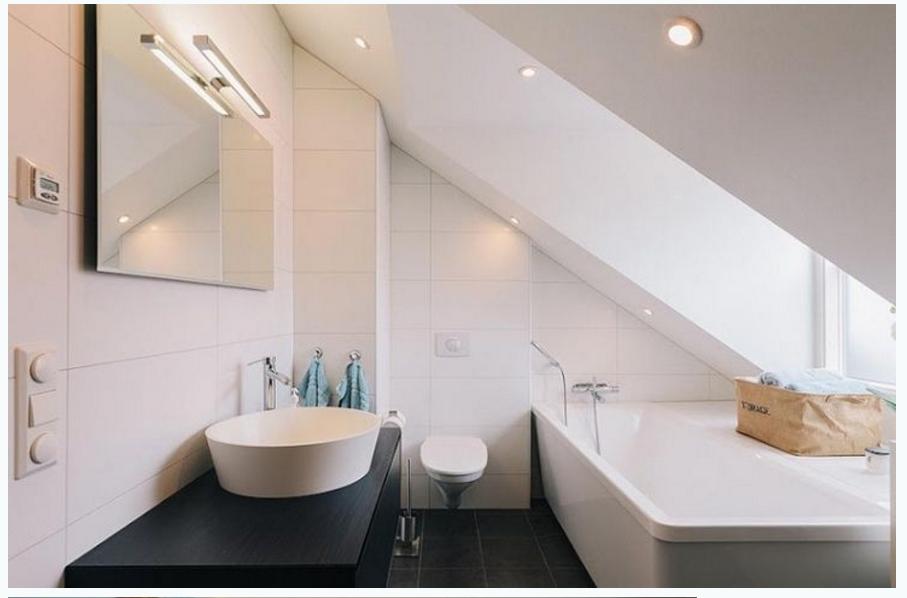 Kleien Badkamer Voorbeelden : Kleine badkamer met dakkapel kleinebadkamers kleine