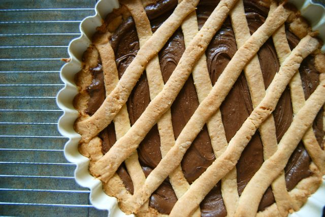 Crostata alla Nutella: we make this.  It's easy.  Promise!  Try it.