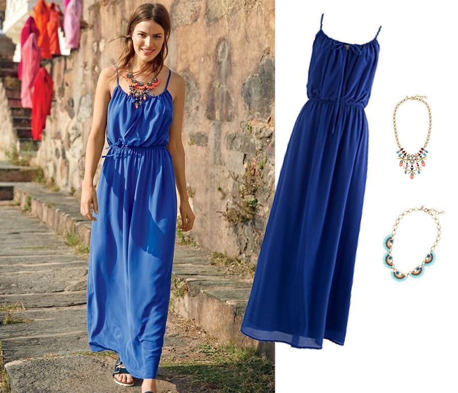 10297980c42 Jcrew Passage to India Blue Silk Maxi Dress