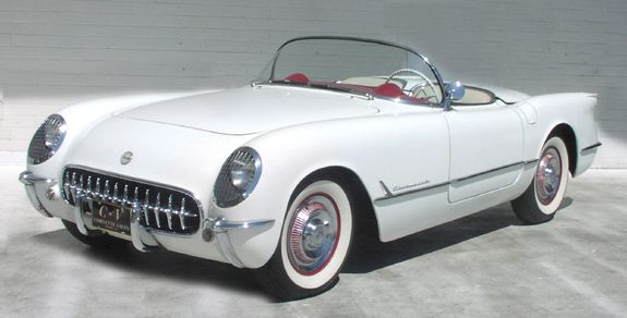 white '54 Corvette    Google Image Result for http://www.vettefacts.com/images/1954-white-convertible-corvette.jpg