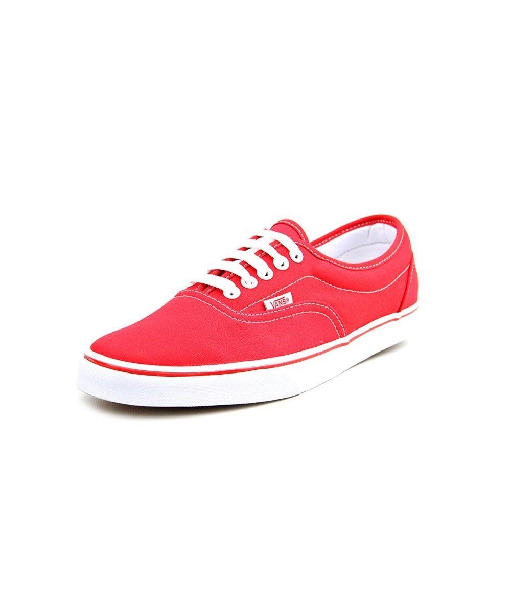 VANS Vans Lpe Men Round Toe Canvas Red Sneakers'. #vans #shoes #
