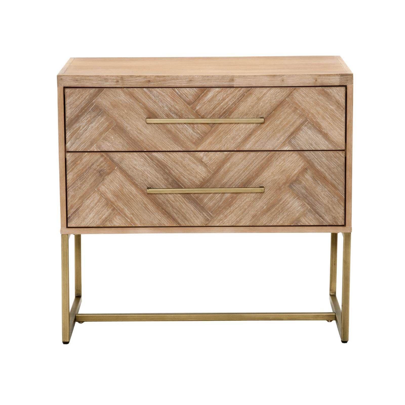 Best Gray Manor Laurel Beige Distressed Wood Nightstand Stone 640 x 480