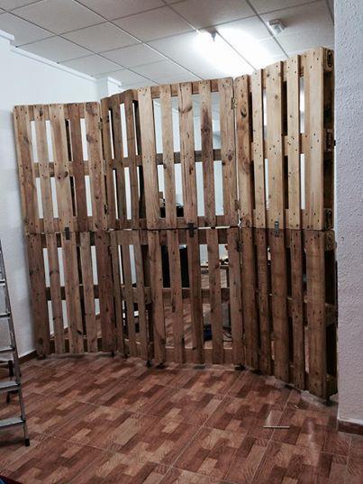 3 biombos hechos con palets ideas para el hogar - Ideas con pallets ...