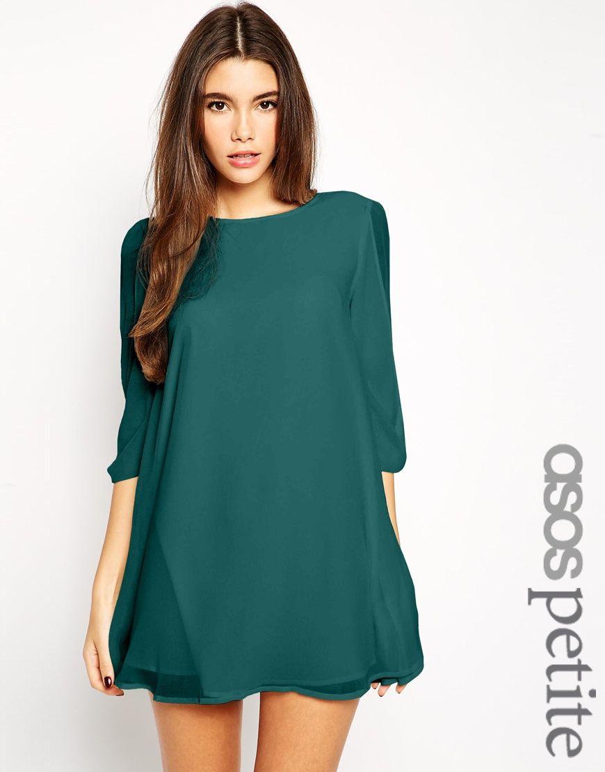 ASOS PETITE Exclusive Bow Sleeve Shift Dress | Одежда, стиль ...