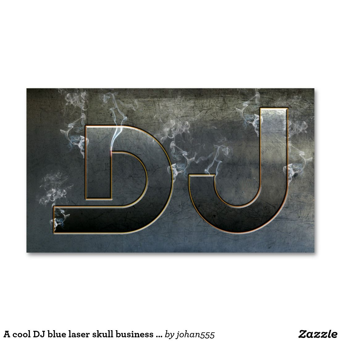 A cool dj blue laser skull business card djmusic business cards a cool dj blue laser skull business card reheart Image collections