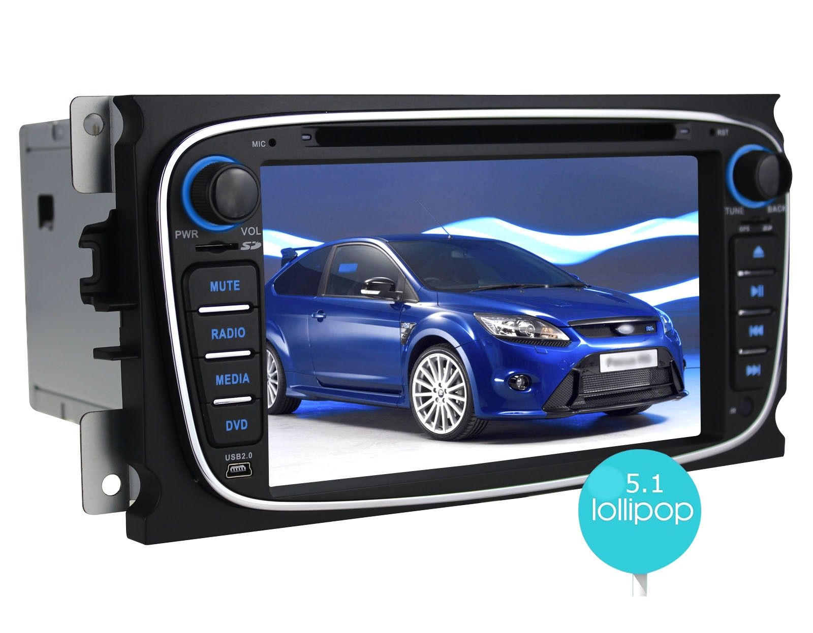 Joying newest android 5 1 1 lollipop autoradio car stereo 7 inch quad core hd 1024 600 resolution black head unit radio oem gps navigation system support