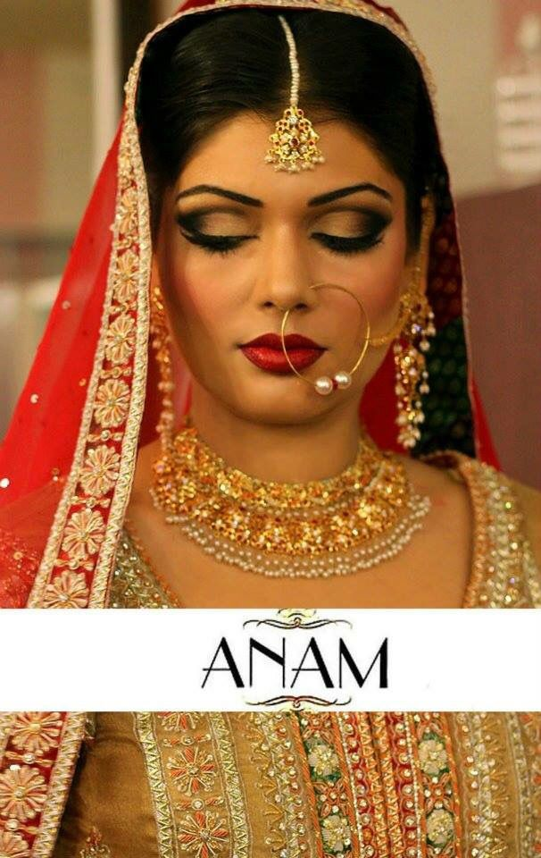 Pakistani/Indian gold bridal jewelry with pearls and zones ...