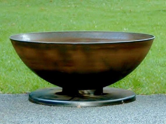 """36 """"Stahl Feuerstelle – einzigartige Form – Custom Feuerstelle – Outdoor Feuerstelle – Metall Feuerstelle"""