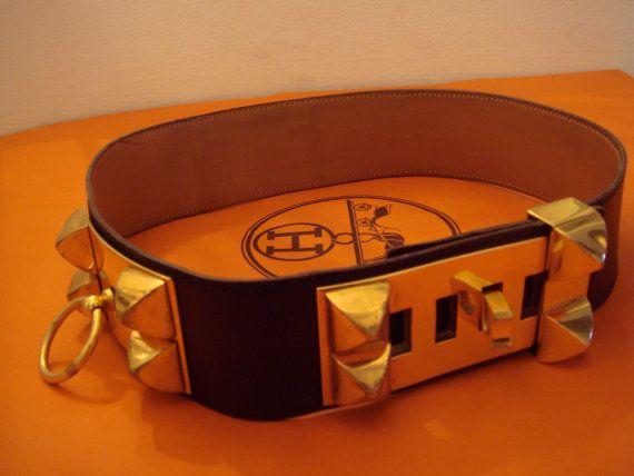 HERMES  GOLD  Belt Made in france  Ceinture  VINTAGE  ICONIC   COLLIERDECHIEN  CDC  MEDORSTUD  BELT  CLASSICHERMES  STATEMENT   COLLECTORSBELT  MEDORSTUD ... 3724f7871a7