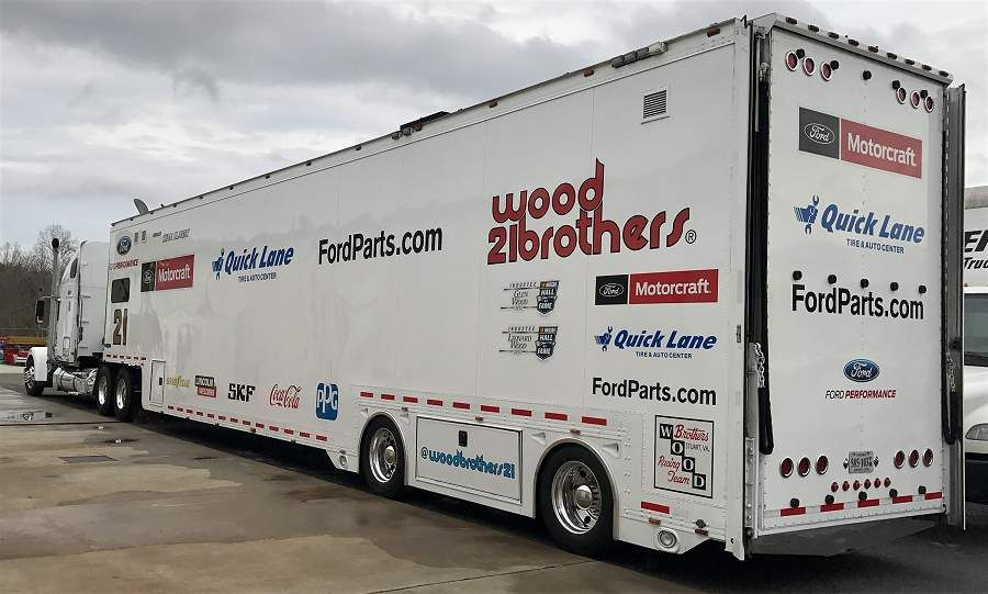 Wood Brothers Racing Freightliner Hauler Transporter Nascar Quick Lane Motorcraft Ford Racing Classic Cars Muscle Car Carrier