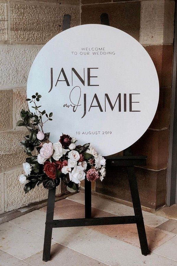 Top 20 Simple Minimalist Welcome Wedding Signs | Roses & Rings – Part 2 – Mobel Deko Ideen – Boda fotos