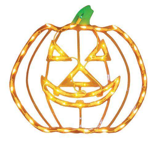 Impact Innovations Halloween Lighted Window Decoration, Jack Impact - halloween lighted decorations