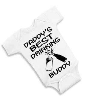 b07673633 Daddy's Best Drinking Buddy Baby One-Piece Bodysuit, Beer and Milk Theme Infant  Clothes, Baby Announcement, Daddy To Be