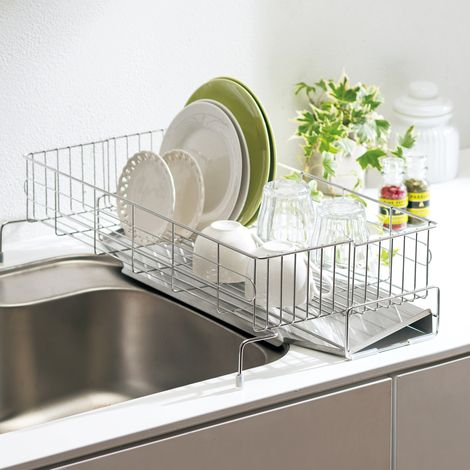 シンクをまたげる伸縮水切り 食器棚 シンク リビング キッチン