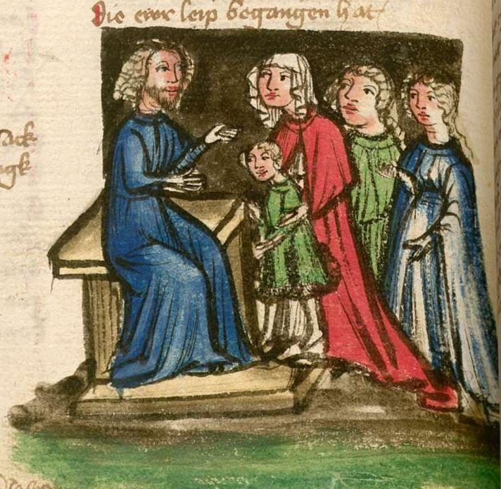 Jansen Enikel, Jans: Weltchronik Bayern-Österreich, 1. Hälfte 15. Jh. Cgm 250 Folio 112