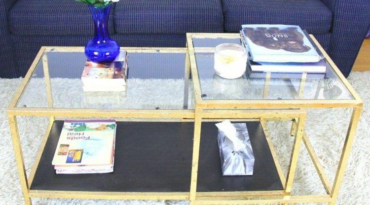 Glastisch Im Wohnzimmer Verschönern Und Gestalten Selber Bauen