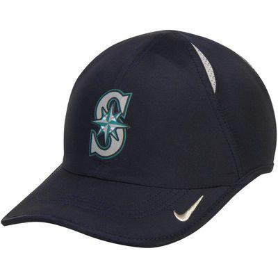Seattle Mariners Nike Featherlight 2.0 Performance Adjustable Hat - Navy  Blue bc75ea5cb4b7