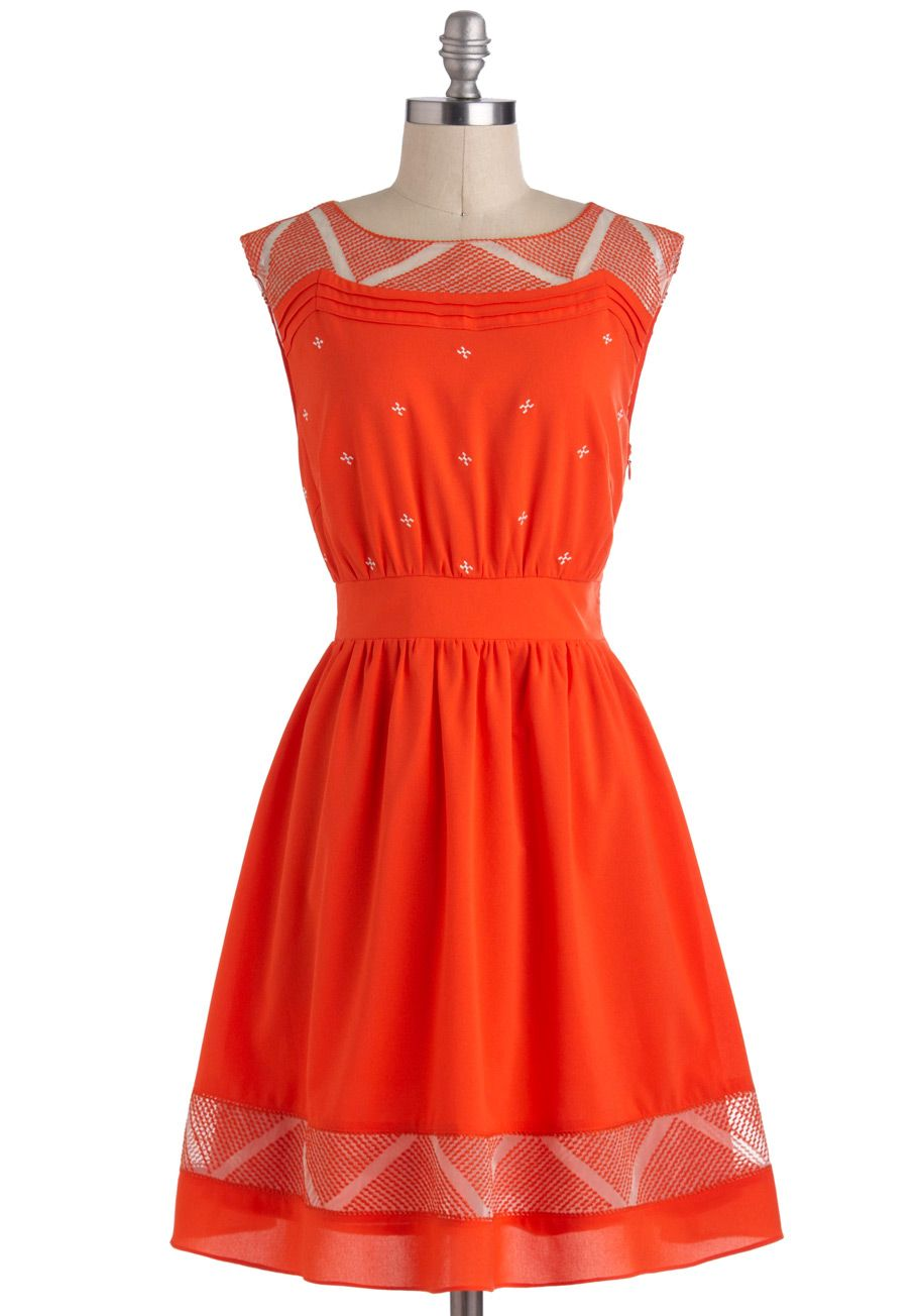 Cayenne and then dress embroidery aline sleeveless spring
