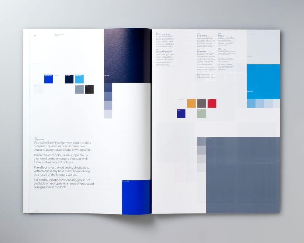 Deutsche Bank Brand guidelines Color Palette designed