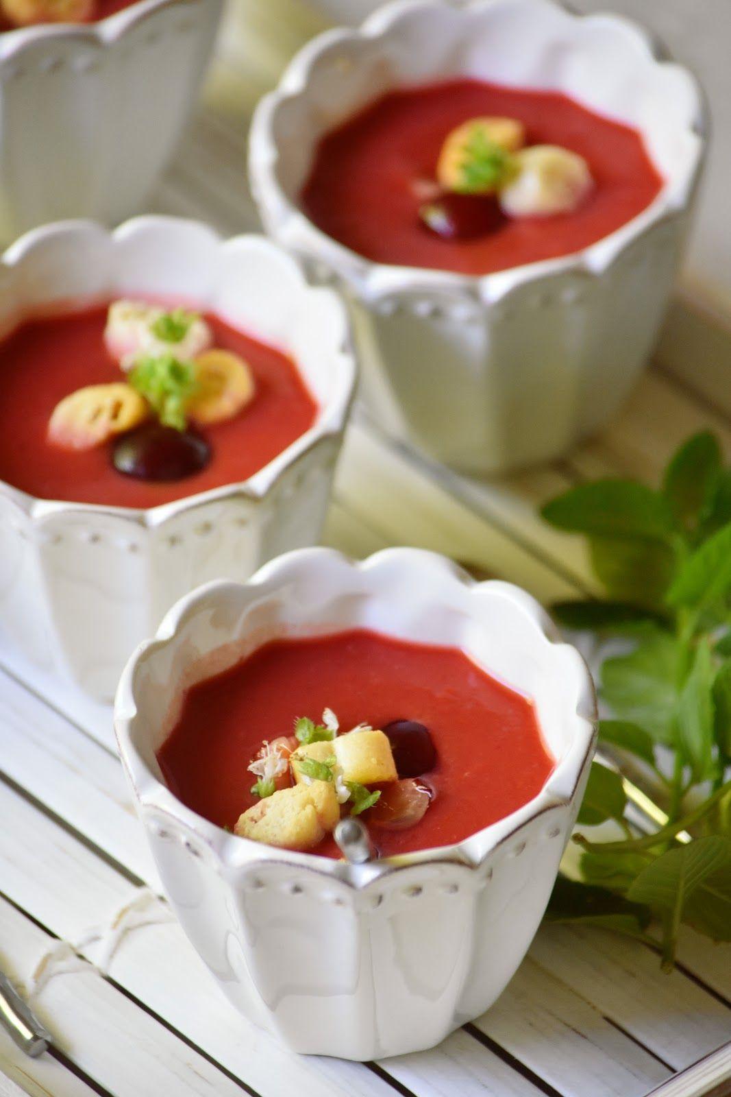 Chez Silvia: Gazpacho de cerezas