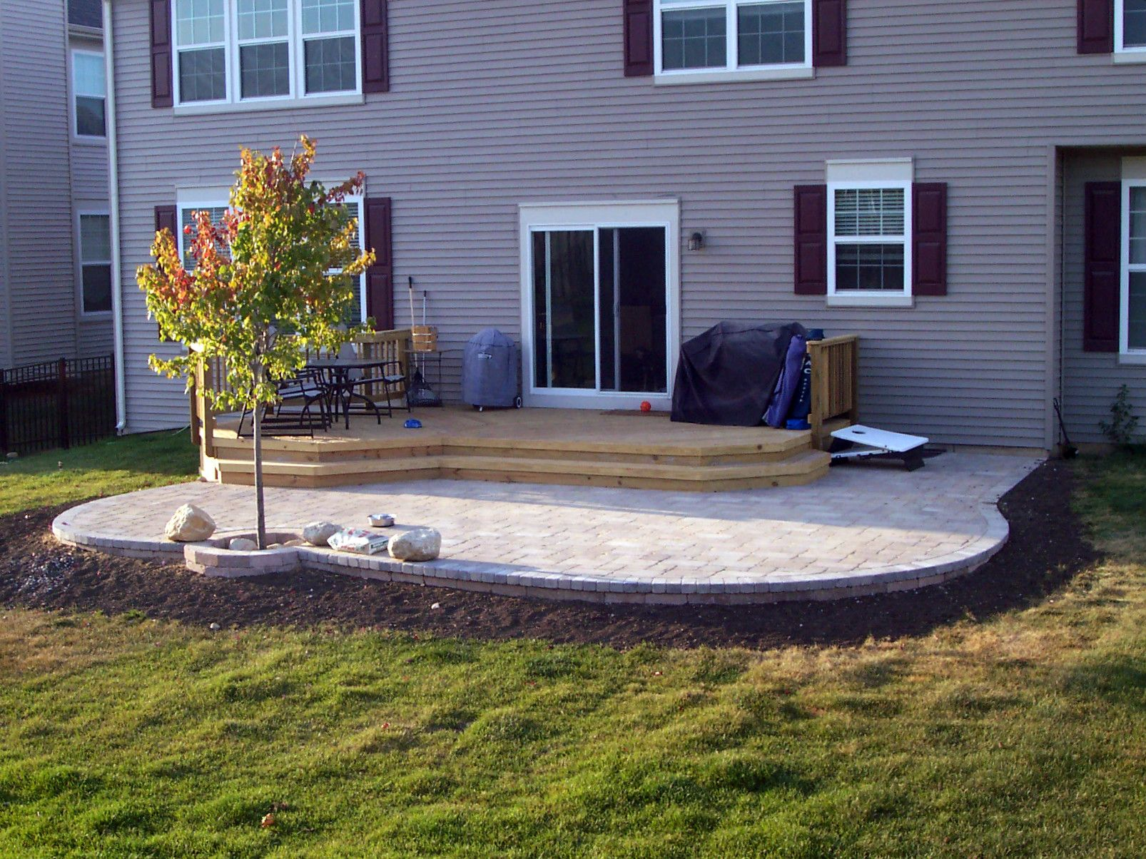 Unilock Patio And Deck Combination By Hoffman Estates Il Patio