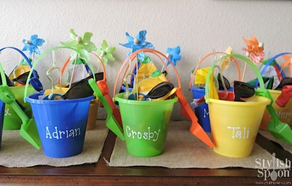 Kids Party Beach Theme Pool Bucket Twin