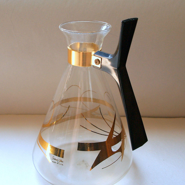 50s diner coffee carafe vintage glass atomic decanter 1950s