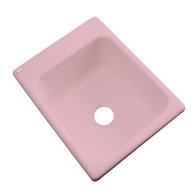 "Solidcast Aberdeen 17"" x 22"" Prep Kitchen Sink Finish: Dusty Rose, Faucet Drillings: No hole"