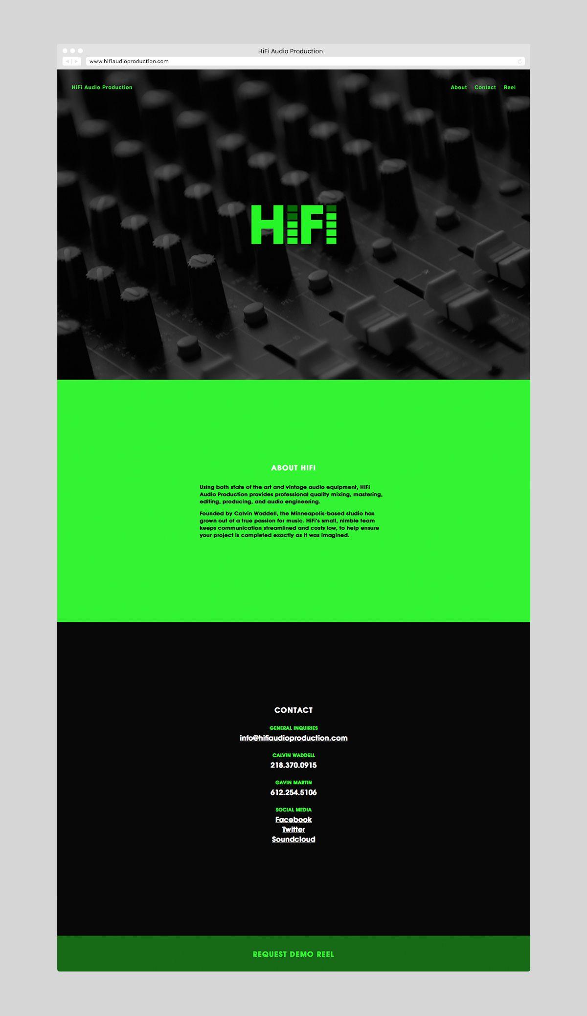 visual identity for hifi audio production by cody paulson