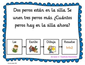 Word Problems for Kindergarten in Spanish K.OA.A.2   Word ...