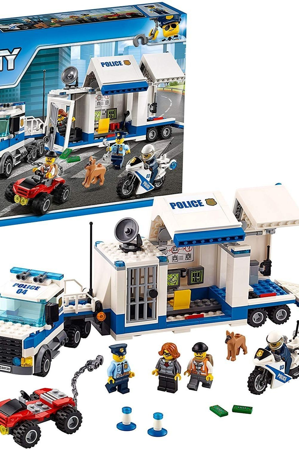 Lego City Police Mobile Command Center Truck 60139 Building Toy Action Cop Motorbike And Atv Play Set For Boys And Gi 2020 Lego City Police Lego City Building Toys