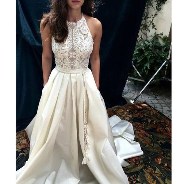 Charming Lace Top Long Impressive Affordable Prom Dress, BG51489