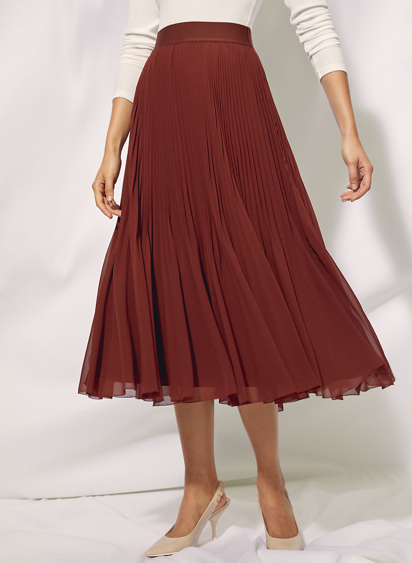 Twirl skirt #twirlskirt TWIRL SKIRT - Pleated, chiffon midi skirt #twirlskirt