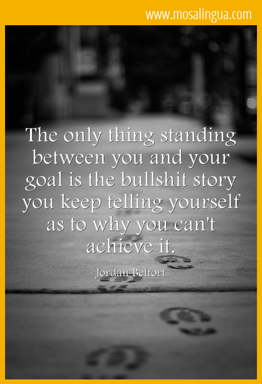 The only thing standing between you and your goal -MosaLingua
