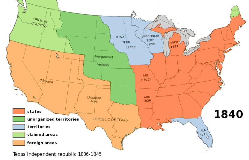 The United States In 1850 Map 1850 ThingLink File1850 Tallis Map