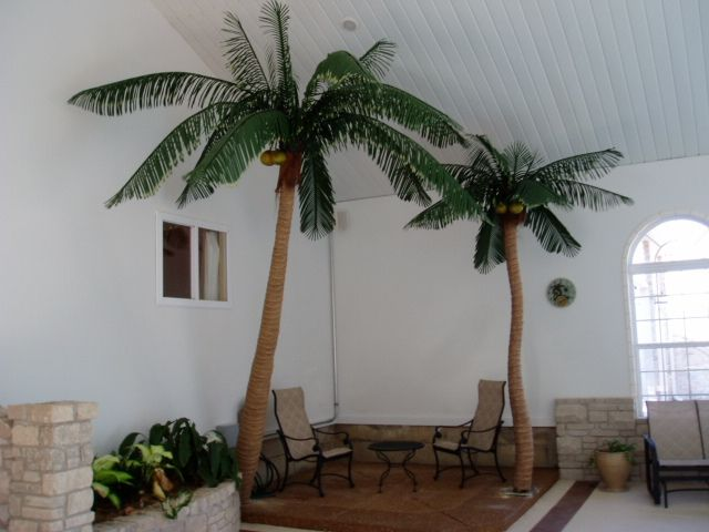 Indoor Artificial Palm Trees 2 Palm Tree Decorations Indoor Trees Tropical Home Decor