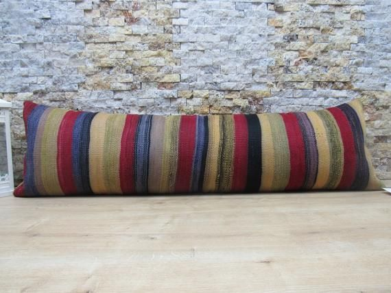 Rainbow Hand woven 20 inch Throw Pillow