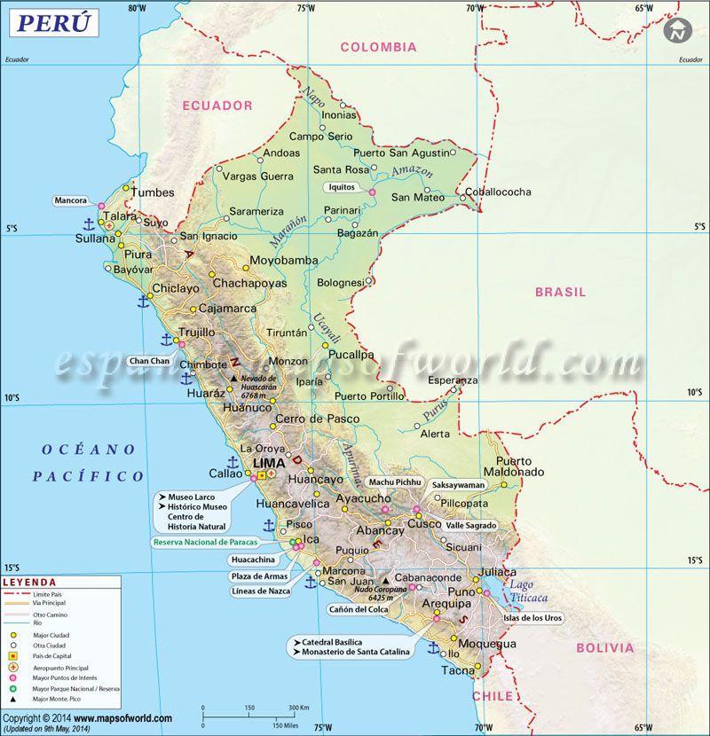 Mapa Del Peru Ecuador Y Perù Pinterest Peru Gap Year And - Peru map lima