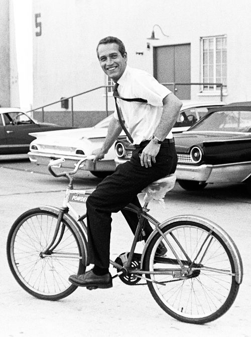Short Sleeve Shirt And Tie Paul Newman On The Warner Bros Lot