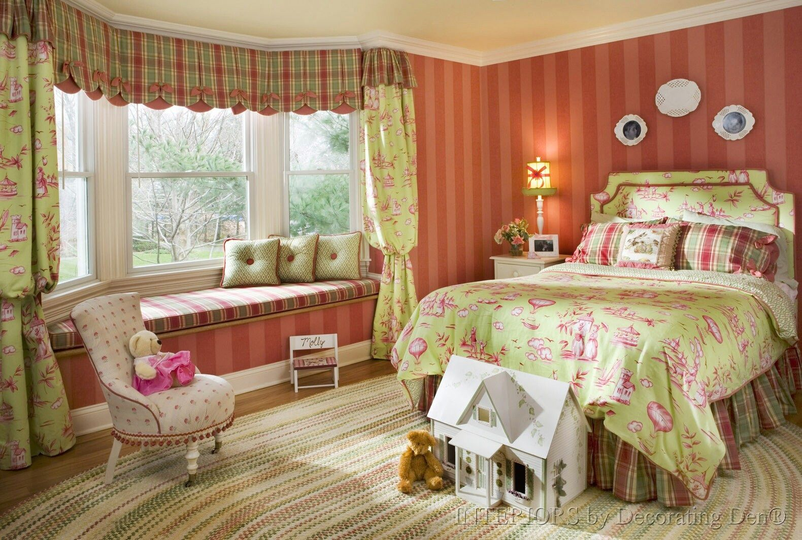 window treatments | little girl bedroom_pink and green_custom