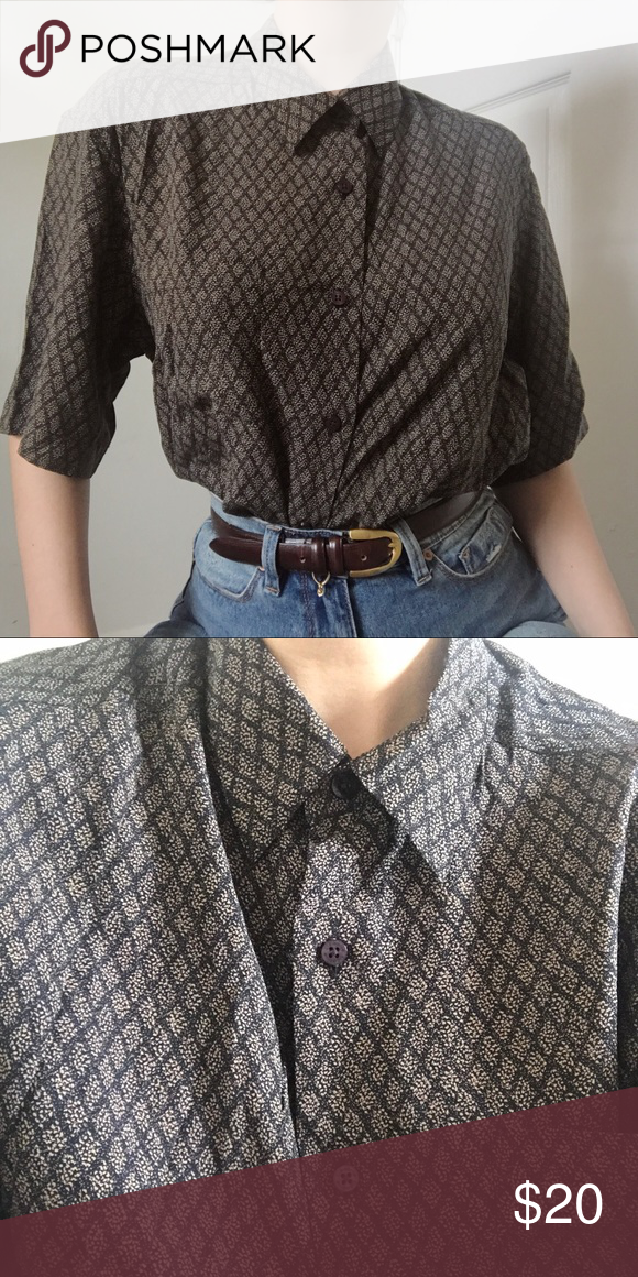 a07a406020d5a9 ✨Vintage silk blouse✨ Liz Claiborne. Can fit any size depending on your  desired look. I'm a small for reference. No flaws. Unisex Vintage Shirts