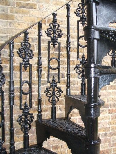 Best The Victorian Cast Iron Spiral Stairs Staircases 9 Iron Staircase Railing Iron Staircase 400 x 300