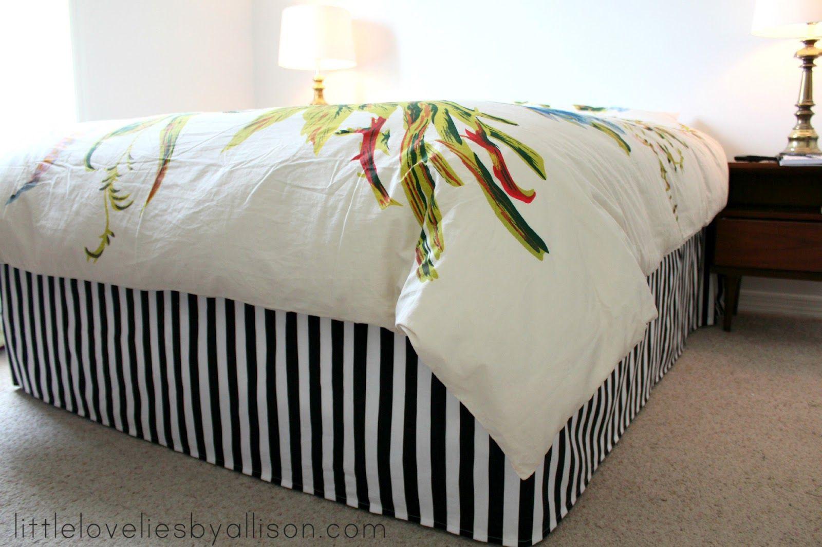 little lovelies tutorial easy DIY bed skirt Diy bed