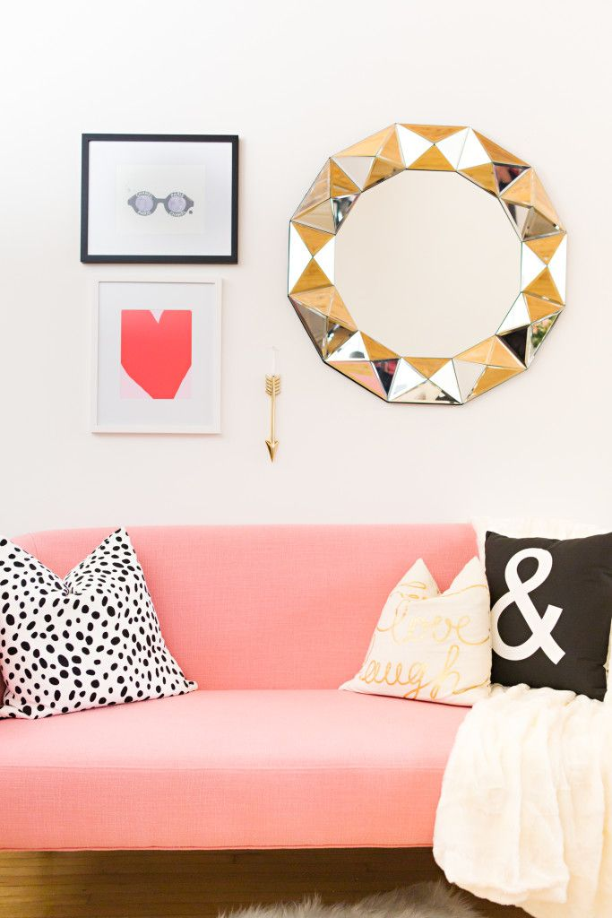 Ashley Malone\'s Bright & Airy Workspace {Office Tour | Glam living ...